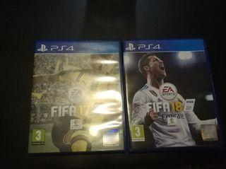 FIFA 18 y 17 PS4
