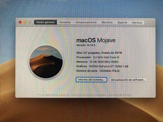 iMac 27 finales 2013 pantalla fina