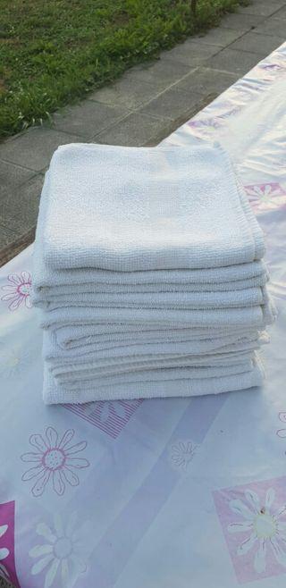 Lote 10 toallas blancas
