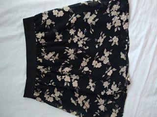 Falda flores goma cintura