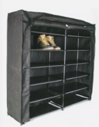 armario ZAPATERO negro tela