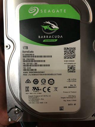 Disco duro interno seagate 1 tb