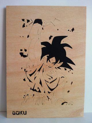 Goku Cuadro de madera calado con sierra