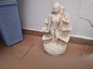 2 figuras decorativas jardín de piedra y macetero