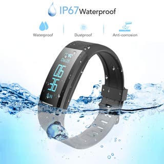 Pulsera de Actividad Inteligente Impermeable IP67,