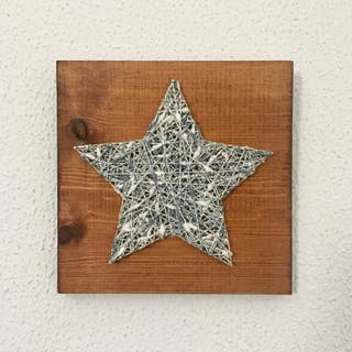 Cuadro estrella 20x20 handmade