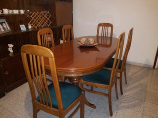 Mesa comedor extensible estilo clásico vintage