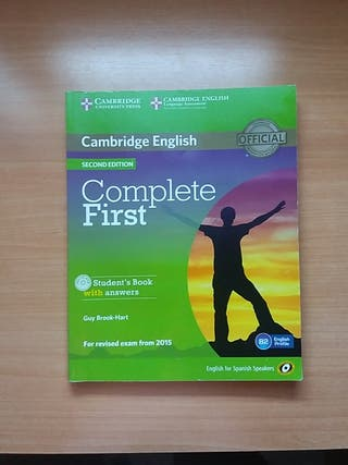 """Libro inglés """"Complete First"""" nivel B2"""