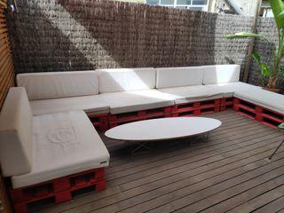 sofá terraza con palets