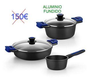 Aluminio Fundido Batería cocina NUEVO Precintado