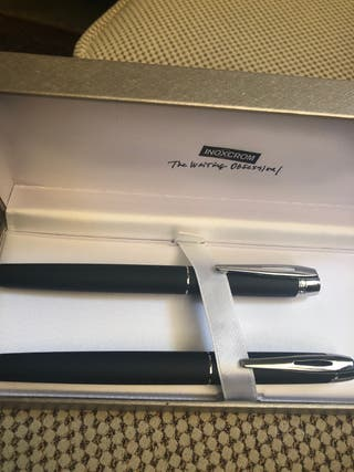 Estuche bolígrafo y estilográfica Inoxcrom