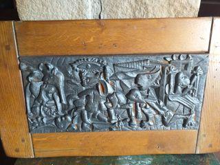 cuadro guernica tallado en hierro
