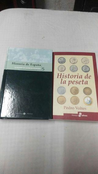 libros:historia de la peseta e Historia de españa