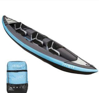 Kayak Canoa Hinchable compresor eléctrico y remos
