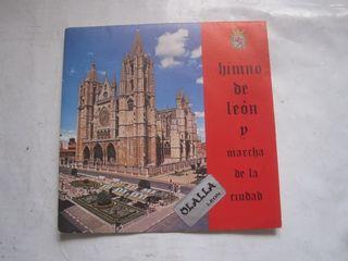 disco single vinilo Himno de León 1978