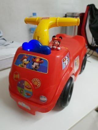 Correpasillos coche bomberos Mickey a partir 1 año