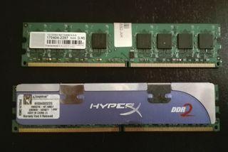 Memoria RAM DDR2 2Gb+REGALO RAM 1Gb