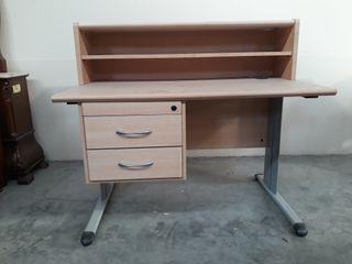 mesa oficina recibidor con cajonera