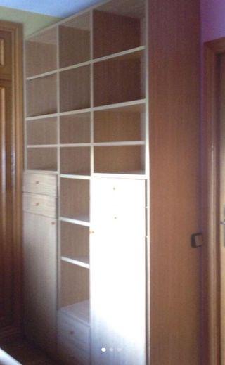Mueble librería armario,2puertas,19baldas,6cajones
