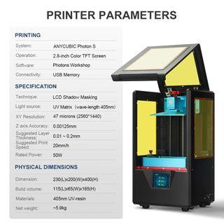 Impresora 3D Anycubic Photon S UV Resina DLP/SLA
