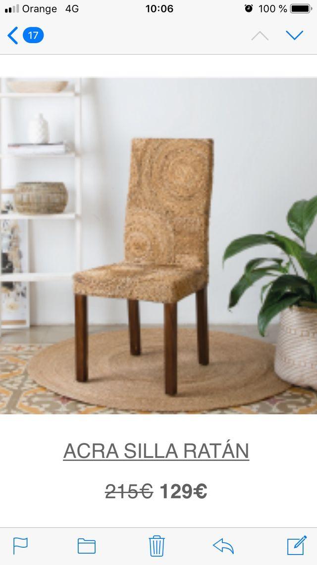 6 sillas ratán para comedor de segunda mano por 500 € en ...