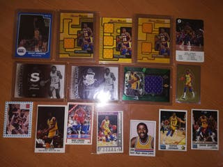 16 cromos y cards de MAGIC JOHNSON en Los Lakers