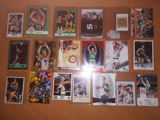 Lote de cards y stickers de LARRY BIRD