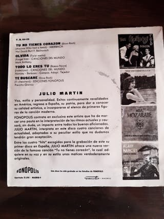 Disco Vinilo Julio Martin