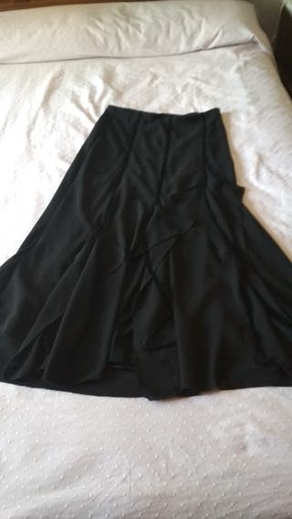 Falda larga negra fiesta