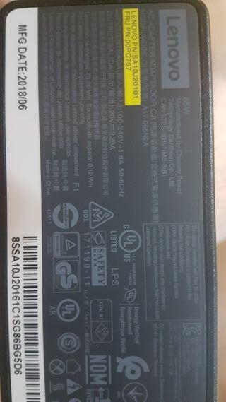Cargador para Lenovo original Nuevo