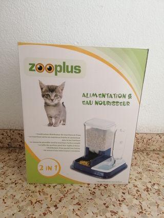 dispensador de comida y agua para perros y gatos