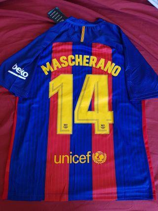 Camiseta FC Barcelona Barça Mascherano Numero 14 L