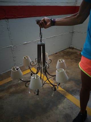 lampara de 6 luces
