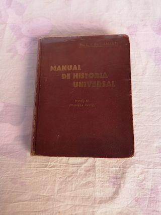 libro escolar 1931. manual de historia universal