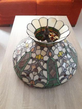 lampara de cristales de colores