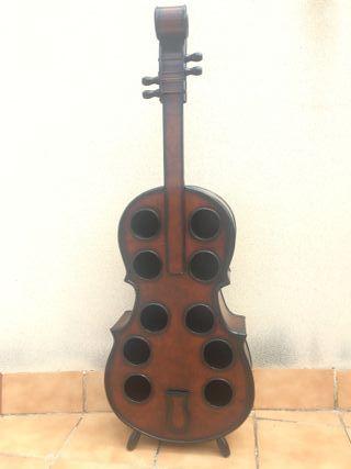Botellero madera violoncello 10 botellas