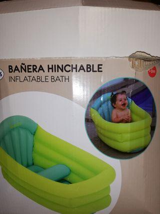 bañera hinchable y silla bañera