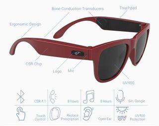 Gafas inteligentes bateria8 horas