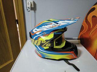 casco enduro cross Airoh + gafas 100%