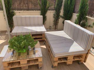 Sofa jardín con Palets