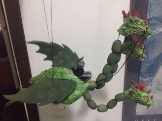 Marioneta DRAGÓN 3 cabezas