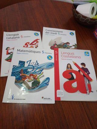 libros escolares de quinto de primaria