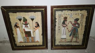 papiros egipcios . Lote 2 cuadros