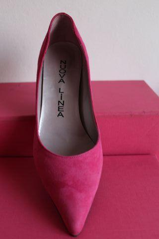 Zapatos tacón rosa fucsia Talla 38