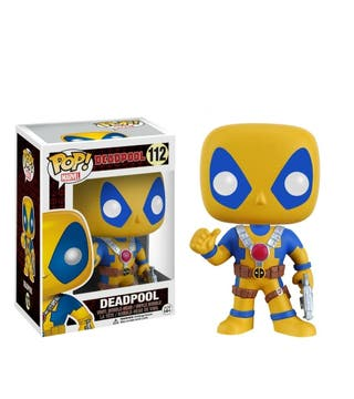 FUNKO POP DEADPOOL YELLOW BLUE