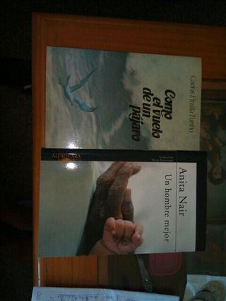 2 libros de lectura narrativa, novela