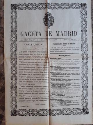 Facsímil periódico Guerra Civil Española