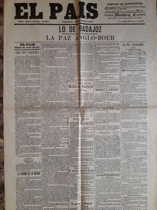Facsímil periódicos. España. Junio 1902