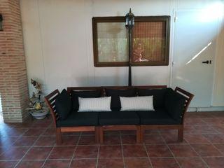 sofá jardín