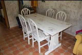 Mesa Comedor con Sillas (OFERTA)